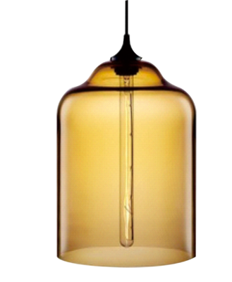 Vintage Industrial Glass Shade Brass Pendant Lamp Ceiling Light