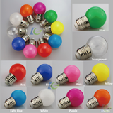Christmas decorative Bulb mini global colored G45 3W